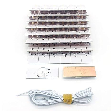 Cuentas de lámpara MXECO 50PCS 3V SMD con lente óptica Fliter para ...