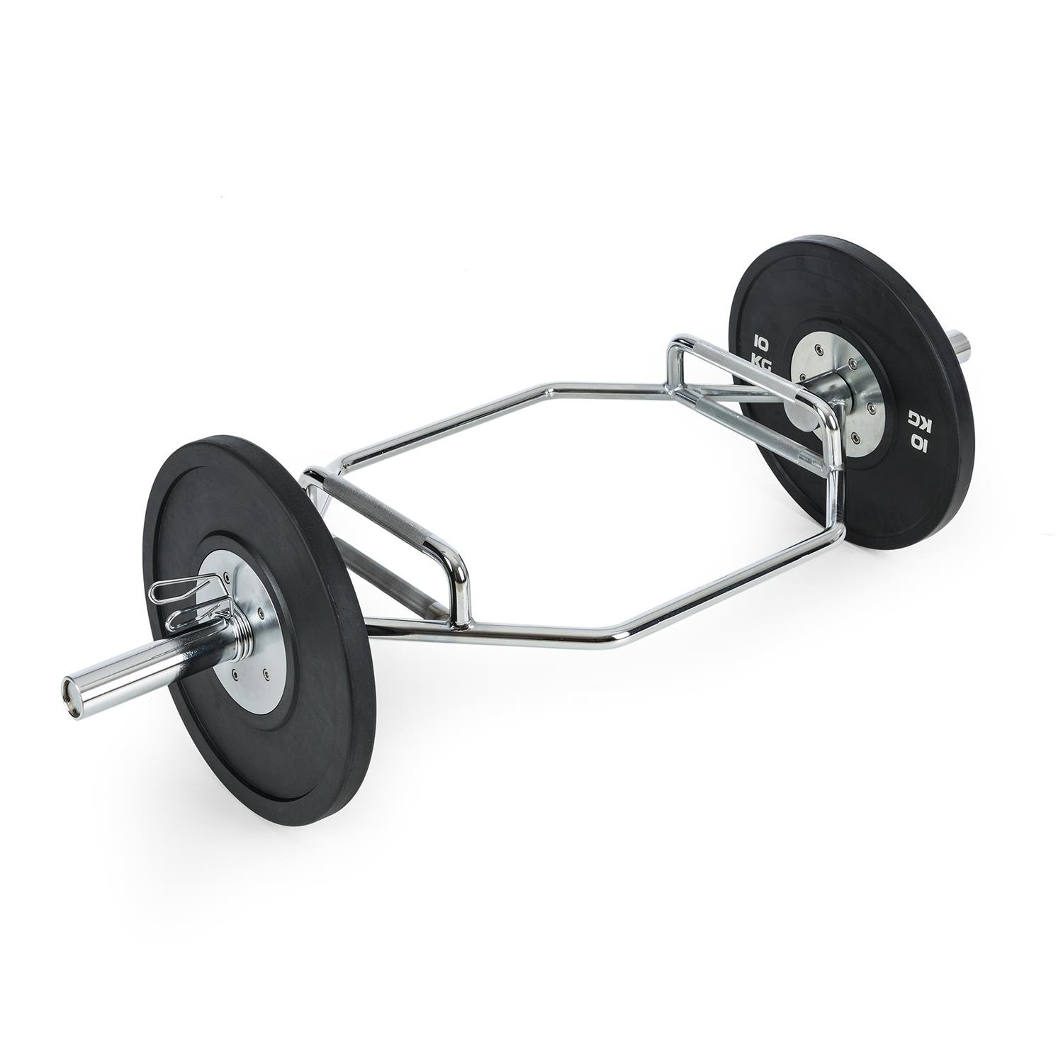CAPITAL SPORTS Beastbar Hex Bar • Barbell • Deadlift Bar • Triceps Bar • Chrome-Plated • Haxagonal Shaped • Knurled Handles • 2 Different Grip Positions • Solid Steel • Home Training • 300kg Max. Load Capacity Hexagonal Shaped Barbell Bar 2 Different Grip