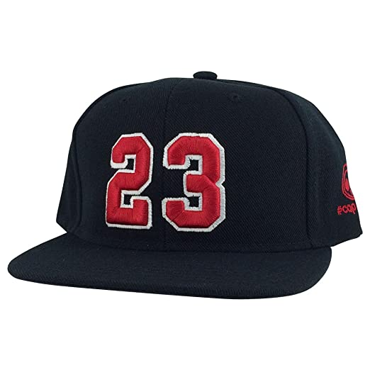 9821813142e0 Image Unavailable. Image not available for. Color  Caprobot Player Jersey  Number  23 X Air Jordan Color Snapback Hat Cap Black red