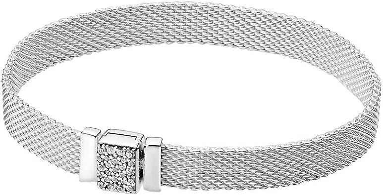 PANDORA Pandora Reflexions Sparkling Clasp, Clear CZ Bracelet
