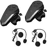 Intercomunicador Casco Moto, ENCHICAS BT-S3 Bluetooth Auriculares Manos Libres para Casco Moto (2*BT-S3)