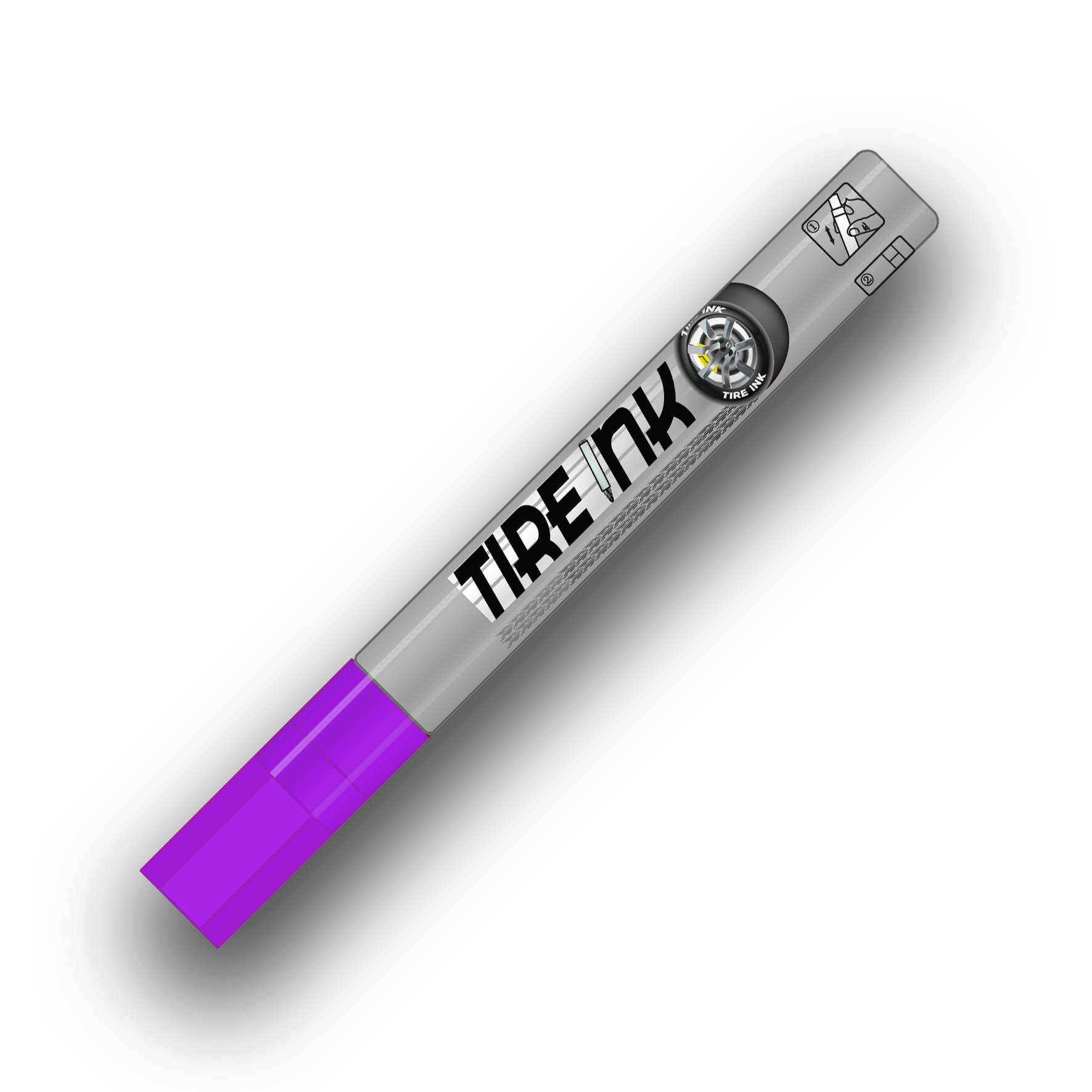 Tire Ink Paint Pen For Car Tires | Permanent and Waterproof | Carwash Safe | 8 Colors Available. (Purple, 1 Pen) by Tire Ink (Image #2)