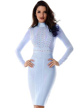 Adyce Bandage-Kleid-Weihnachten damen baumwolle Damen-Kleid-festlich ...