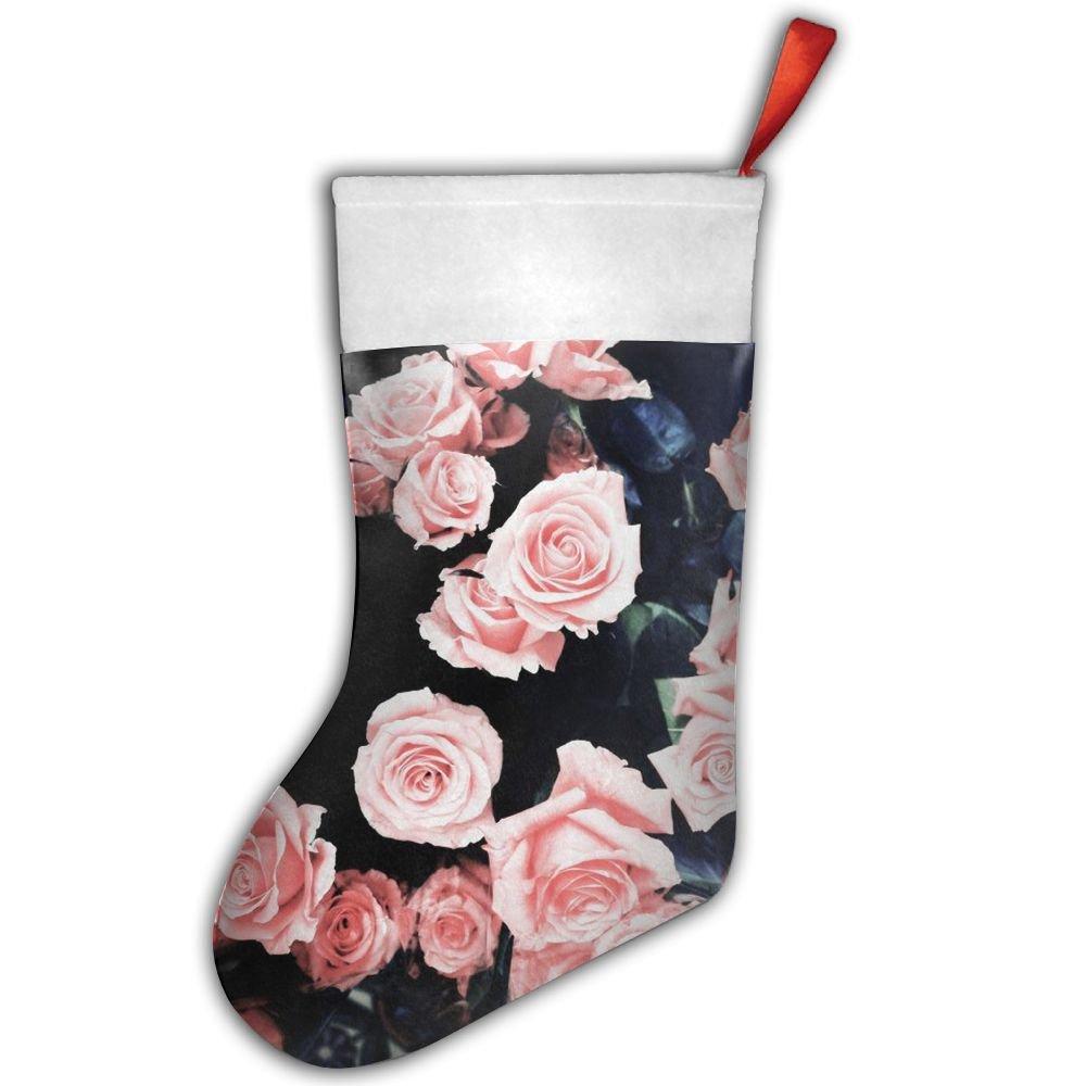 Color rosa rosas de calcetines de Navidad XMas medias calcetines para fiesta de Navidad decoración: Amazon.es: Hogar