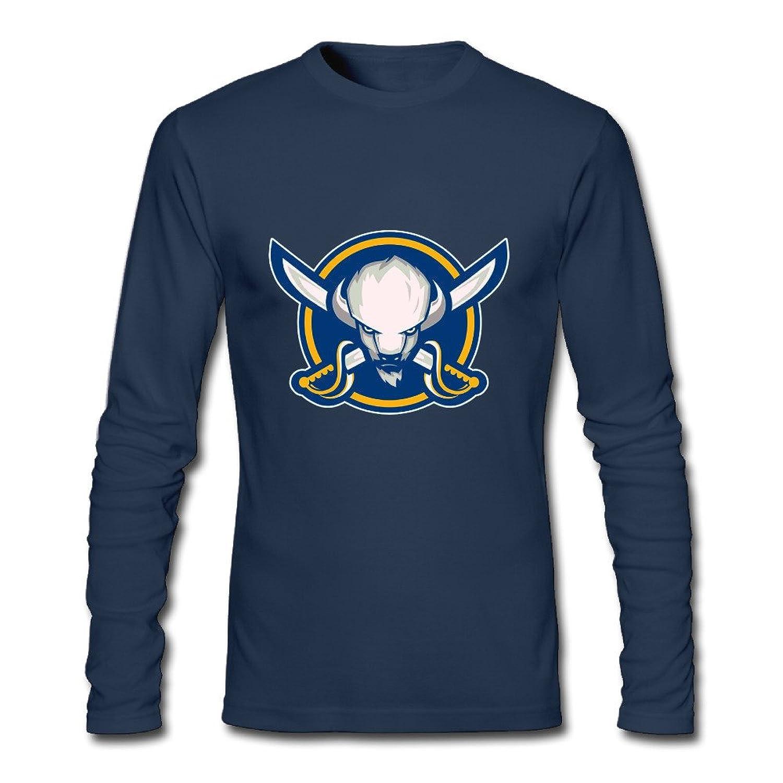 Buffalo Sabres NHL 2016 FAN LOGO Mens Long Sleeve T-Shirts Navy