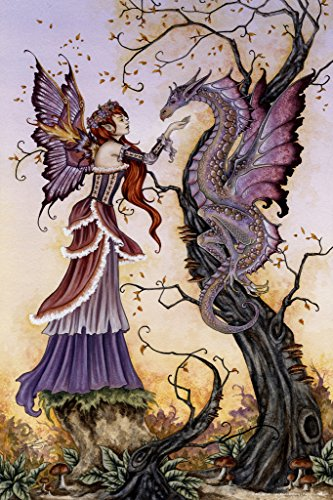 The Dragon Charmer by Amy Brown Art Print Poster 12x18 inch