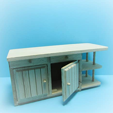 Amazon Com Dollhouse Unfinished Kitchen Island Cabinets Drawers