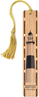 product image for Personalized Montauk Point Lighthouse Handmade Wooden Bookmark with Tassel