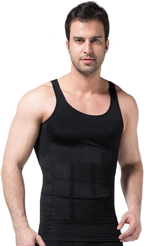 ZEROBODYS Faja reductora hombres camisa de elástica de adelgazamiento de la forma chaleco escultural negro Ssy-1 (XL): Amazon.es: Deportes y aire libre