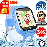[FREE SIM CARD] Kids Smart Watch GPS Tracker for Girls Boys,IP68 Waterproof Smartwatch Fitness Tracker Call SOS Camera Game Outdoor Sport Bracelet Halloween Birthday Back to Shool Gift for iOS/Android For Sale