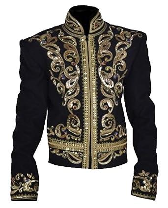 Classyak Mens Michael Military Style Fashion Jacket Cotton Black X-Small