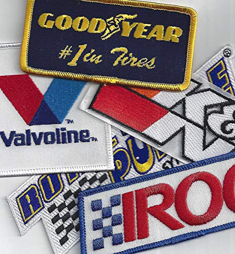 Racing Patch Assortment of 5 Patches By Crash Daddy