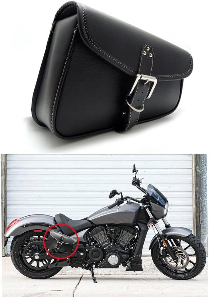 1 Stück Motorrad Satteltaschen Leder Pu Wasserdichte Rechts Satteltasche Motorrad Side Gepäck Werkzeugtasche Schwarz Auto