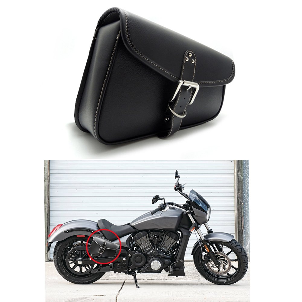 1 Pz Laterale Laterale in Pelle PU Pelle Impermeabile Lato Destro Borsa Laterale Borsa Laterale Borsa Laterale per Moto AUTLY