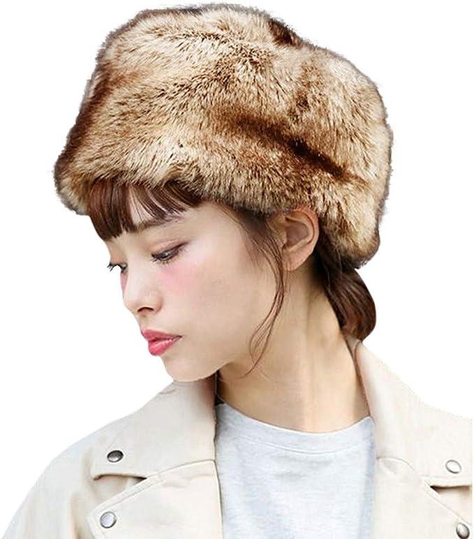 Cappello Invernale Colbacco Tutto in Pelliccia Unisex Nero