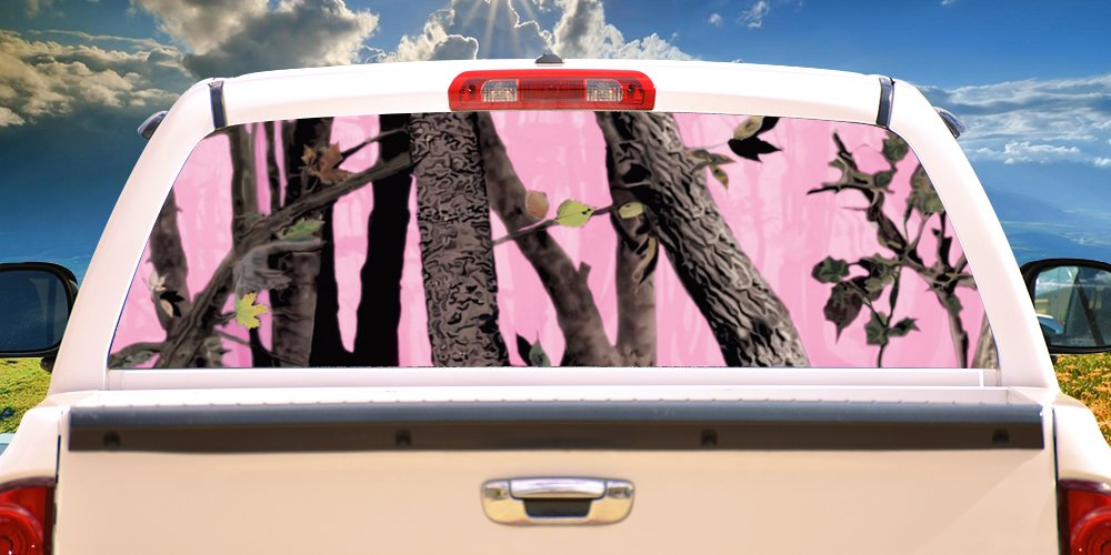 PINK TREE CAMO Rear Window Graphic truck view thru vinyl decal back SignMission