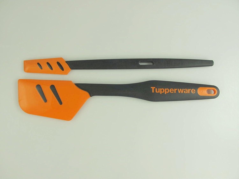 TUPPERWARE 2x Griffbereit Kleiner Top-Schaber schmaler Teigschaber SCHW//ORANGE
