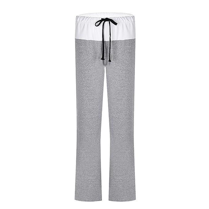 Mujer Pantalones de Yoga Pantalones Deportivos secado rápido Suave Mujer  Pantalones Anchos de Pierna Largo Casual Gris XXL  Amazon.es  Ropa y  accesorios a79f97c89cf5