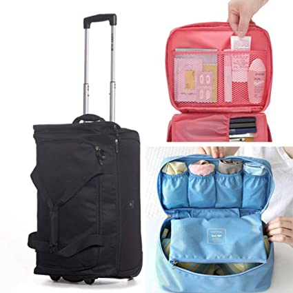 978ec2f3a3b2 Amazon.com: YANJINGHONG Travel Bag Portable Outdoor Backpack Trolley ...