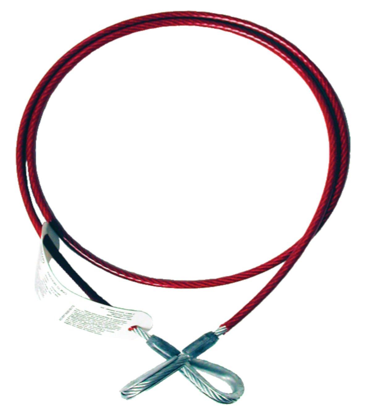 1//4 Diameter x 8 Length 1//4 Diameter x 8/' Length MSA SFP3267508 Vinyl Coated Anchorage Cable Sling