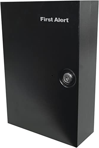 First Alert 3060F Steel Wall Mount Key Cabinet, 0.15 Cubic ft, Black