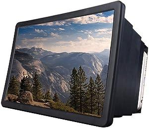 OERTUFU Screen Magnifier 3D Video Desktop Adjustable Mobile Phone Bracket Eye Protection Universal Expander Stretch Amplifier Holder Smartphone Enlarged(Black)