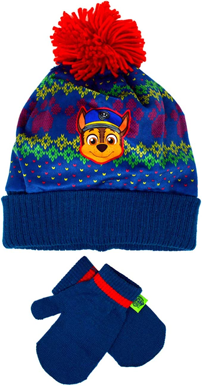 Boys Character Official Paw Patrol Hat /& Gloves Size 4-8 Years