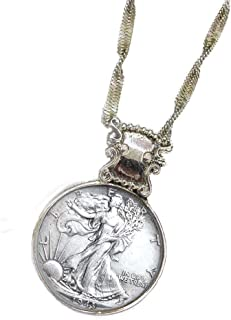 product image for Walking Liberty Half Dollar Coin in Silvertone Bezel