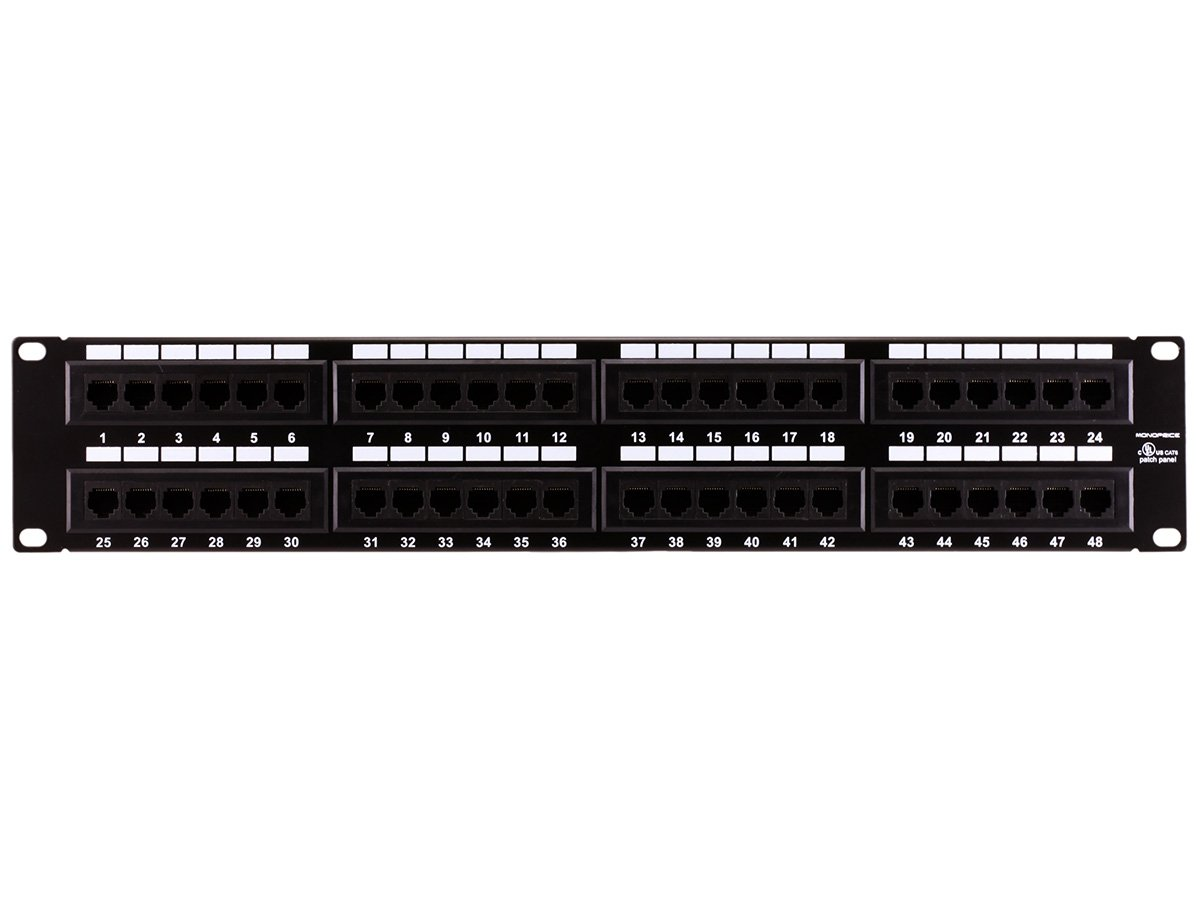 Amazon.com: Monoprice 107305 Cat6 110 Type 48-Port (568A/B Compatible) Patch  Panel: Home Audio & Theater