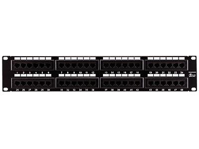 Monoprice 107305 Cat6 110 Type 48-Port (568A/B Compatible) Patch Panel