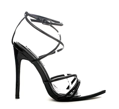 40d4bcfd248e CAPE ROBBIN Women s Strappy Pointy Open Toe Ankle Strap Stiletto Sandal-ADA  (7