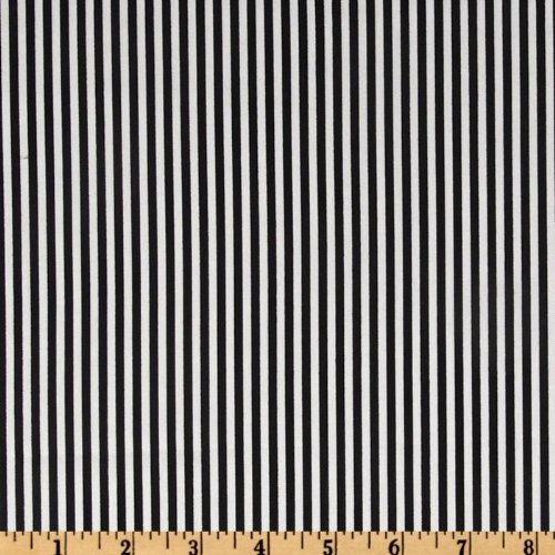 Stripe Quilt Fabric - Timeless Treasures Stripes Black/White Fabric by The Yard