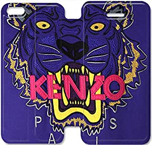 iPhone 5C Cell Phone Case Kenzo Brand Logo Colorful Printing Leather Flip Case Cover 6ERT447738