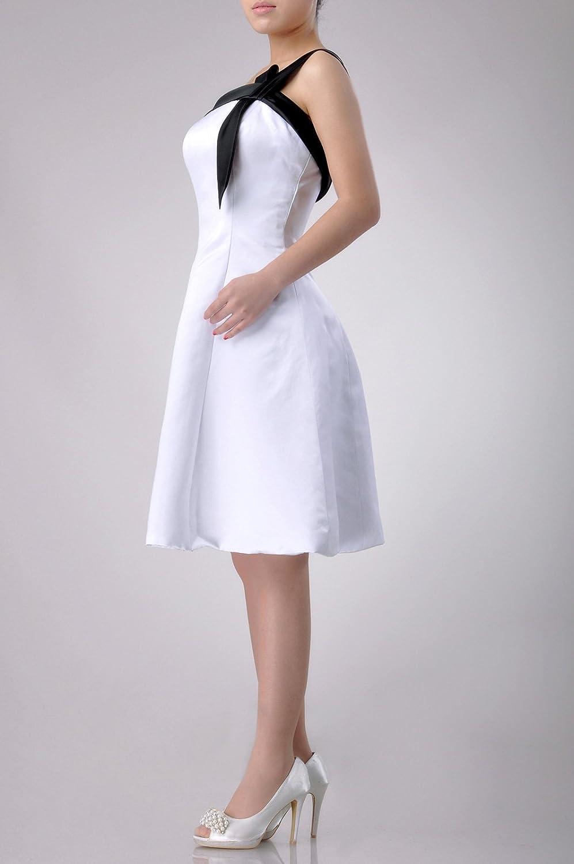 Adorona Satin Natrual One Shoulder Asymmetric Sleeveless Graduation Dresses