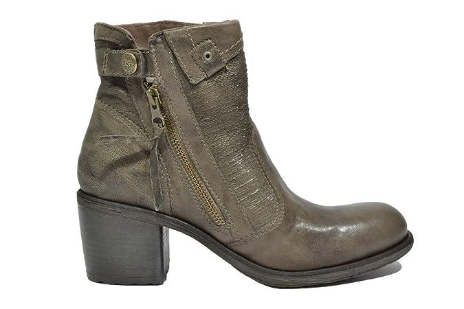 NERO GIARDINI Polacchini verdegris 6120 scarpe donna mod. A616120D