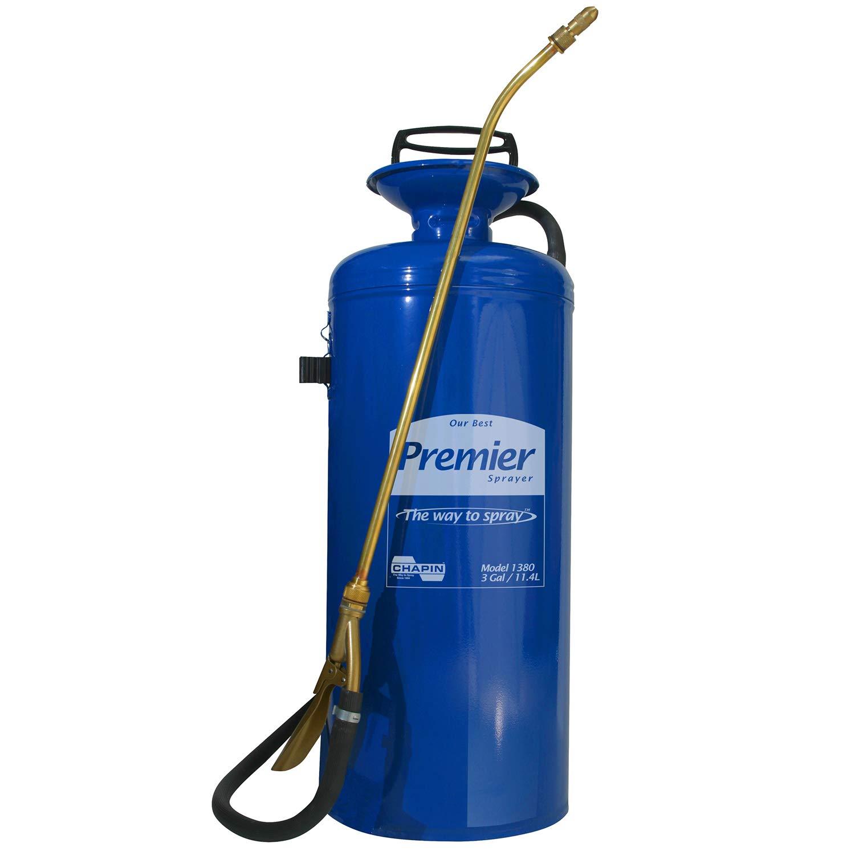 Chapin 1380 Premier Pro 3-Gallon Tri-Poxy Steel Sprayer For Fertilizer, Herbicides and Pesticides