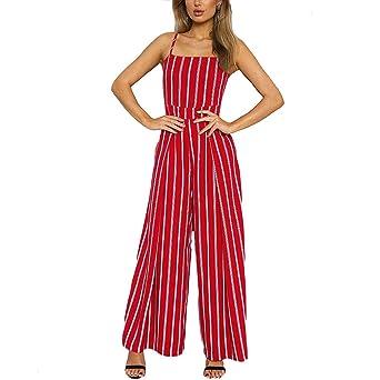 bas prix 453a5 69c68 Kolylong の💕 Mode Femme Bustier Cami Combinaison rayée ...