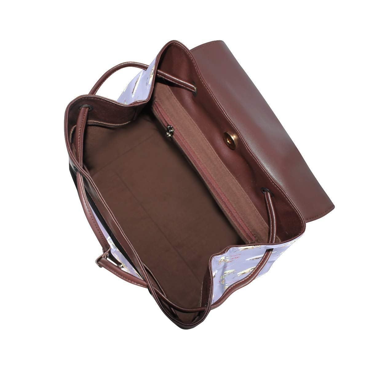 Leather Dog Sleeping Backpack Daypack Bag Women