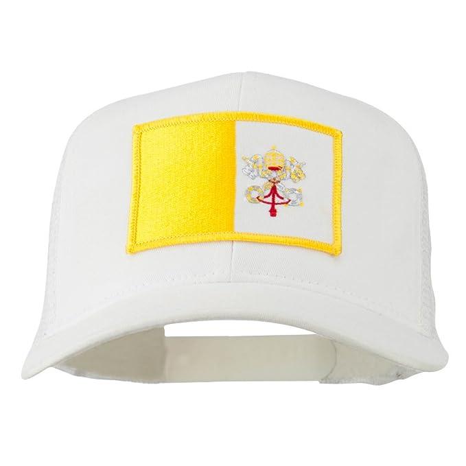 7abda4c6750 E4hats Vatican City Flag Patched Mesh Cap - White OSFM at Amazon Men s  Clothing store