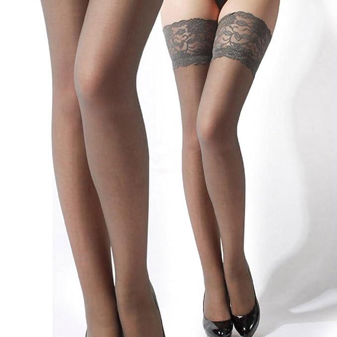 1 opinioni per Koly_Womens Top in pizzo in silicone Banda alta della coscia calze collant