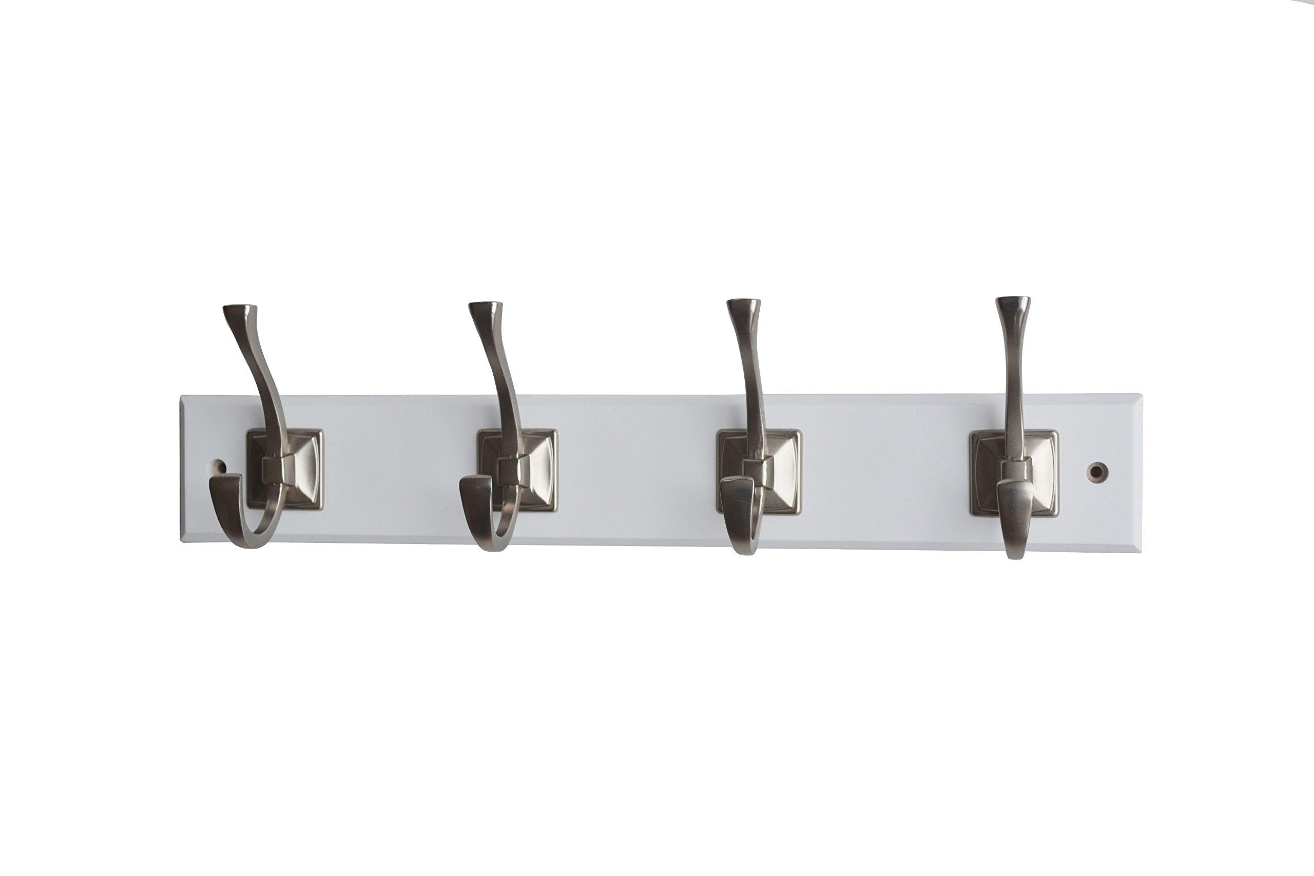 Mascot Hardware HR146-4/SN-WH Hook Rail, White
