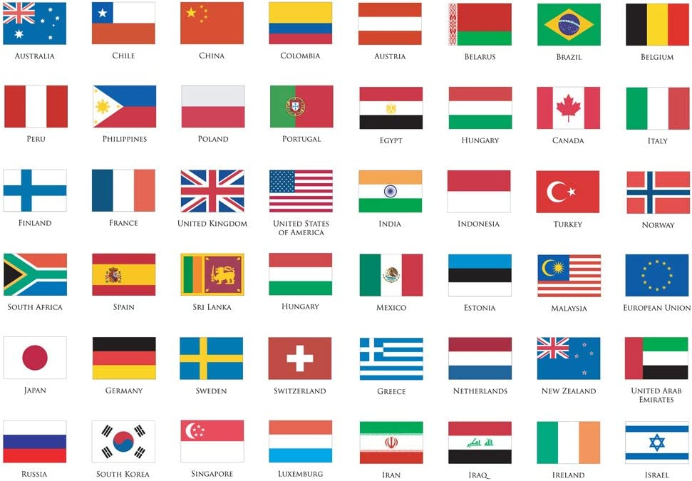 Seasonstorm World National Flag Kawaii Aesthetic Pastel Art Agenda Journal Planner Stationery Stickers