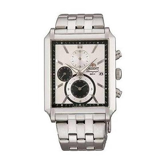 Orient STTAE001W0 - Reloj de pulsera para Hombre, blanco / plata