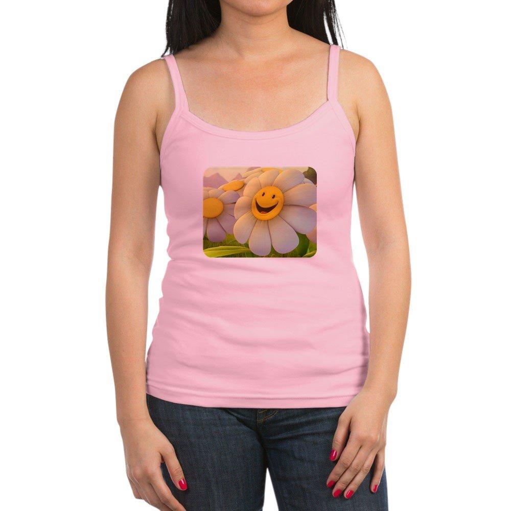 Spaghetti Tank Smiley Face Daisy Flower Royal Lion Jr