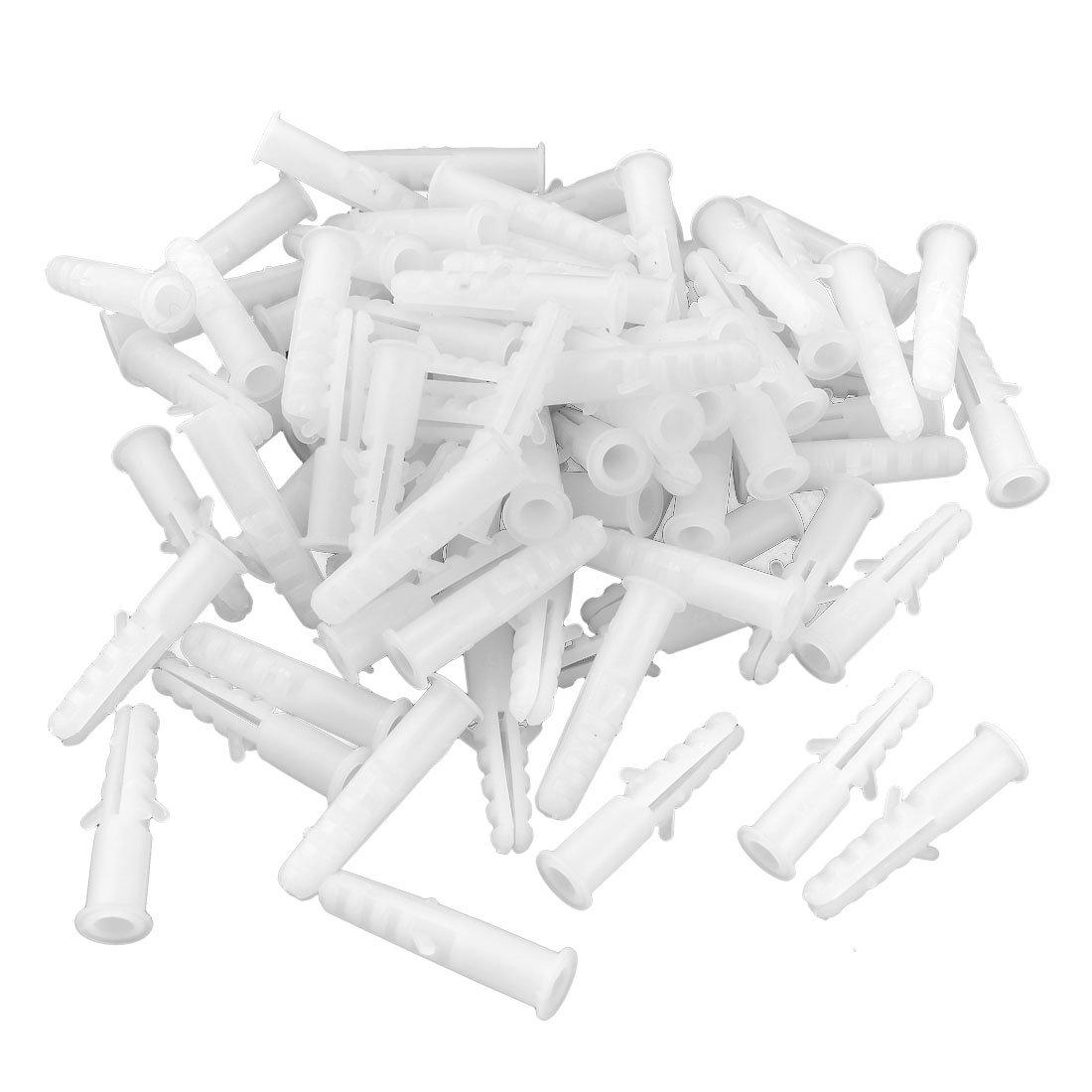 Armario de 4 mm de diá metro Lag tornillos clavos de plá stico conector 100 piezas Sourcingmap a14031400ux0947