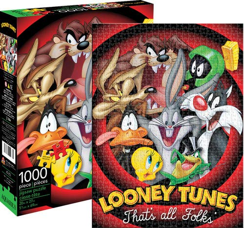 (Aquarius Looney Tunes That All Folks Jigsaw Puzzle (1000)