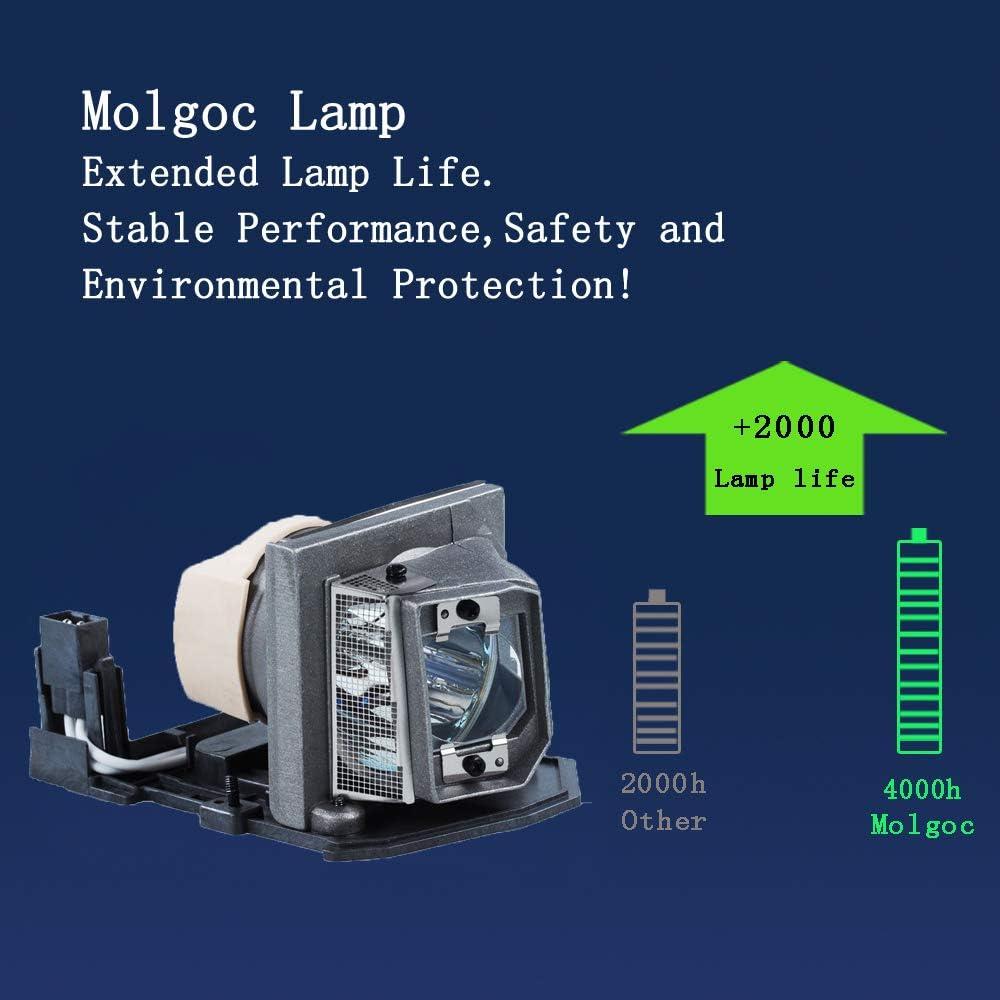 Molgoc SP.8LG01GC01 Bombilla de repuesto para proyector OPTOMA DB2401//DB3401//DS211//DT2401//DT3401//DX211//ES521//EX521//OPX2630//PJ666//PJ888