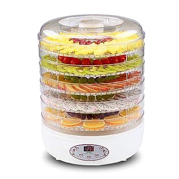 Comida digital saludable Deshidratador de frutas Conservador de alimentos eléctrico Flor vegetal Secador de refrigerios 250 W Sin BPA Máquina deshidratadora ...