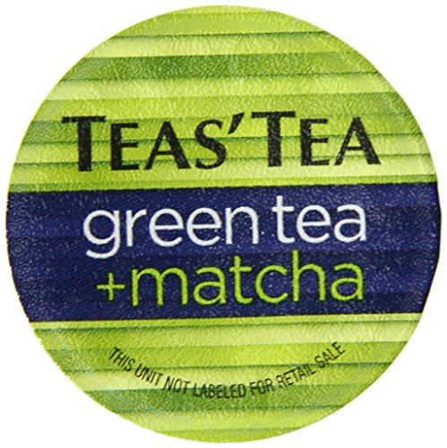 Teas' Tea Green Tea Plus Matcha, Single Serve Cups, (Pack of 12) , Organic, Zero Calories, No Sugars, No Artificial Sweeteners, Antioxidant Rich, High in Vitamin C