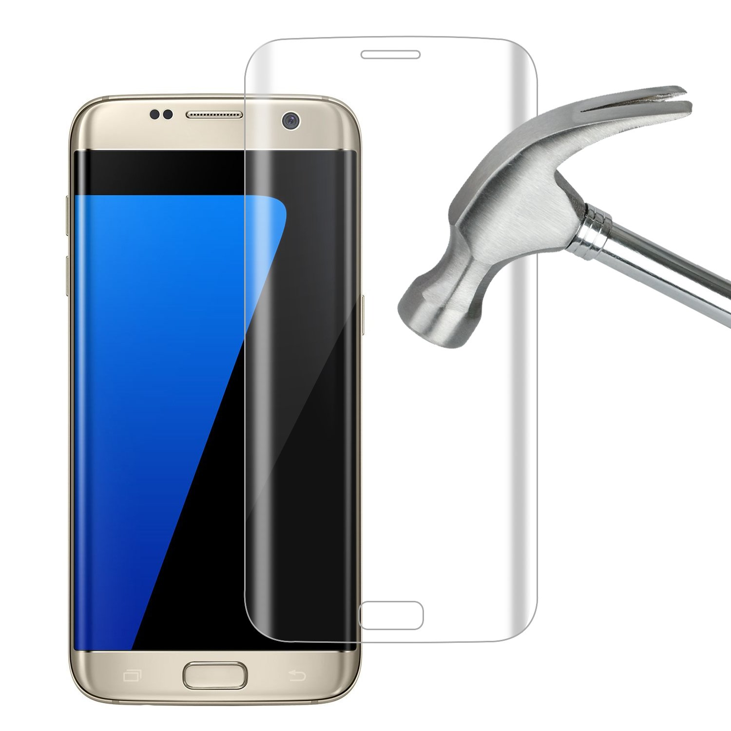 Amazon Galaxy S7 Edge Screen Protector Tempered Glass Fastbee 3D Curved Full Coverage for Samsung Galaxy S7 Edge Cell Phones & Accessories